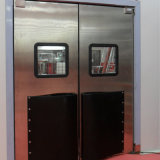 安全Windowsの鋼鉄ドアが付いている耐衝撃性の振動ドア