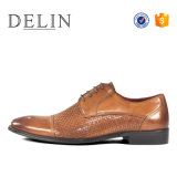 Nuevo estilo de cuero auténtico reflectante de alta zapatos de vestir para hombres