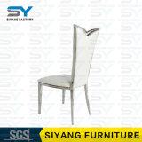 Cuero de la PU del pie del acerocromo de la silla del banquete de los muebles que cena la silla