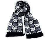 Sciarpa lavorata a maglia di calcio della sciarpa dei ventilatori della sciarpa della nappa con il marchio personalizzato