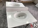 Parti superiori di marmo di vanità coltivate lucentezza con Backsplash e Oval&#160 interno; Dispersore