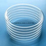 Tubo de espiral de quartzo transparente