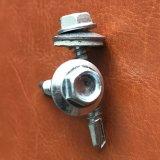 Self-Drilling cabeza hexagonal de tornillo con arandela de caucho EPDM de Zinc