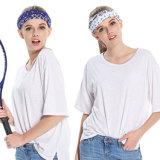 십대 여자 소녀를 위한 탄력 있는 요가 연약한 신축성이 있는 스포츠 형식 머리띠가 머리띠에 의하여 기지개한다