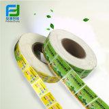 Escrituras de la etiqueta transparentes modificadas para requisitos particulares de la etiqueta autoadhesiva de la impresión de encargo profesional del fabricante de China en rodillo