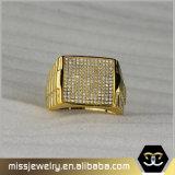 Hip Hop semplice i disegni del 1 di grammo anello di oro per gli uomini Mjhpr054