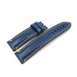 cinta de relógio de couro acolchoada forma de 18 20 22 24mm com costura Handmade