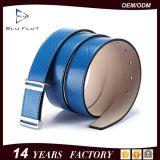 Kundenspezifisches Firmenzeichen-grundlegende Metallfaltenbildung-echtes Leder-Mann-Riemen
