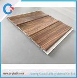 Painel de parede de madeira laminado painel do teto do PVC do PVC de dois sulcos