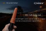 HOME portátil impermeável ao ar livre pequena super da mini lanterna elétrica leve brilhante do diodo emissor de luz de Lightfe D01 para proteger a lanterna elétrica do diodo emissor de luz do presente do corpo