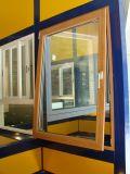Het Venster van het Glas van het aluminium op Met een laag bedekt Poeder
