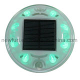 8PCS LED solares ojos de gato Camino Stud luz intermitente