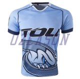 元のデザインフィージーの色刷のチーム一定のラグビーのジャージ(R014)