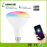15W Br40 E26 Multicolor (2000K-9000K) Luz inteligente lâmpada WiFi funciona com Alexa Google Home