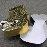 Rectángulo de papel de empaquetado de Kraft del diseño creativo de la luz de la lámpara del embalaje