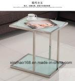 私達様式の腰掛けが付いている安く新しいガラスコーヒーテーブル