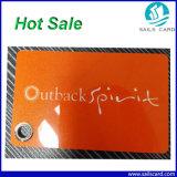 Nueva tarjeta irregular perforada orificio profesional del PVC que viene
