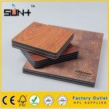 6mm du grain du bois stratifié compact