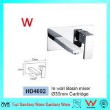 Banho de água fria Lavatório Misturador do dissipador de torneira com torneira de latão cromado de nível único