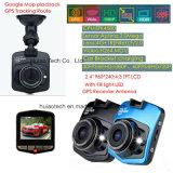 Sale barato GPS de seguimiento Registrador del coche DVR con 2.4inch LCD, la cámara 5.0Mega tablero de coches, H. 264 grabadora de vídeo digital, Completo HD1080p caja del coche Negro, DVR-2402