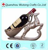 Suporte de frasco animal engraçado do vinho dos cervos da decoração da sala de visitas