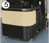 Высокая стоимость работы двигатель переменного тока 1t три колеса электрического вилочного погрузчика