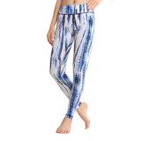 Desgaste de la yoga de los pantalones de Contol de la panza de Legging de las mujeres apretadas