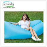 Sac d'air paresseux de cadeau de sommeil bleu-clair imperméable à l'eau promotionnel de sofa
