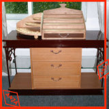 Cosméticos de la tienda de antigüedades de madera representa la unidad de visualización para el sector minorista