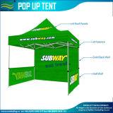 La tenda piegante di alluminio d'acciaio del baldacchino schiocca in su la tenda della parte superiore del tetto del Gazebo della tenda foranea di incandescenza