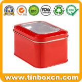 مربّعة قصدير صندوق, قصدير علبة يعبّئ, هبة معدن قصدير وعاء صندوق