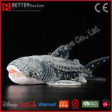 Jouet mou de peluche de requin de baleine de peluche réaliste pour des gosses