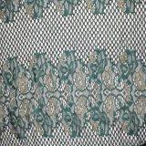 Tela francesa del cordón del oro de la flor de la materia textil única del diseño