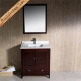 Тщета шкафа ванной комнаты твердой древесины высокого качества Fed-1069c