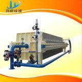 Filterpresse mit Bandförderer und Arbeitsbühne für Öl