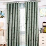 Красивейшая ткань занавеса окна светомаскировки жаккарда цветка и птицы (08F0040)