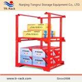 Estante resistente de la pila de almacenaje con la paleta de postes movible