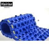 Nastro trasportatore modulare di plastica piano limitato di larghezza della cerniera di Hairise Singel