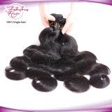 Vente chaude sèche le Tissage de cheveux humains ondulées péruvien vierge