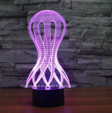 Lampe à piles décorative de lumière de nuit du commutateur 3D de contact de l'illusion DEL de formes de coutume pour le cadeau de gosses
