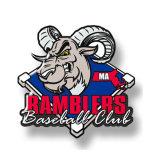 Emblema de emblema de lapel de metal para promoção esportiva