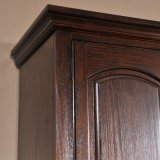 Guardaroba di legno della mobilia della camera da letto con il portello Louvered (GSP17-009)