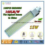 160lm/W 270 lâmpada Rotatable do diodo emissor de luz do G-24 do grau 12W com 3 anos de garantia