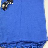 Lenço azul do poliéster da cor para xailes das senhoras do acessório de forma das mulheres