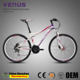 bicicleta de aluminio de la bici de montaña del freno hidráulico de 26inch 24speed para la hembra