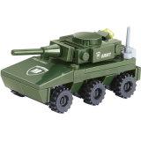 子供Playmobileのためのおもちゃをアセンブルする14880003動かされた戦車駆逐車軍シリーズブロックの処置及びおもちゃ図