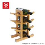 Banco di mostra unico del vino del pino delle 12 bottiglie per la cremagliera di visualizzazione