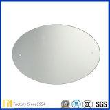 2mm - 6mmの浴室の装飾的な壁ミラーのための磨かれた端が付いている銀によって塗られるフロートガラス楕円形ミラー