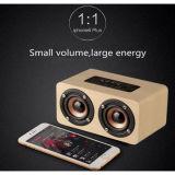 altavoz ruidoso de madera móvil sin hilos de 10W Bluetooth
