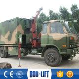 Grúa montada camión telescópico del auge 2 toneladas para los carros